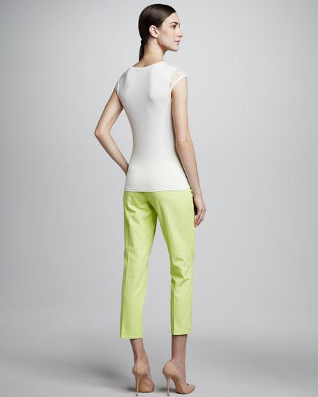 Nalia Lace-Illusion Knit Top