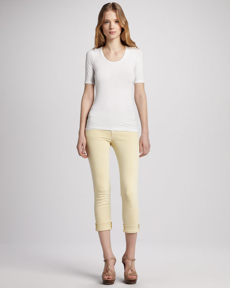 Super Chic Mustard Cropped Jeans