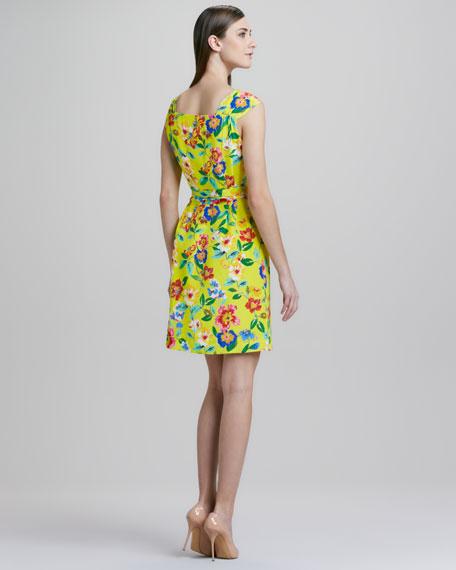 cathleen v-neck wrap dress