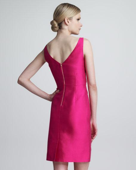 evie bow-waist sleeveless dress