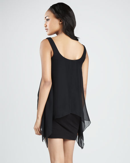 Manta Ray Chiffon Overlay Dress