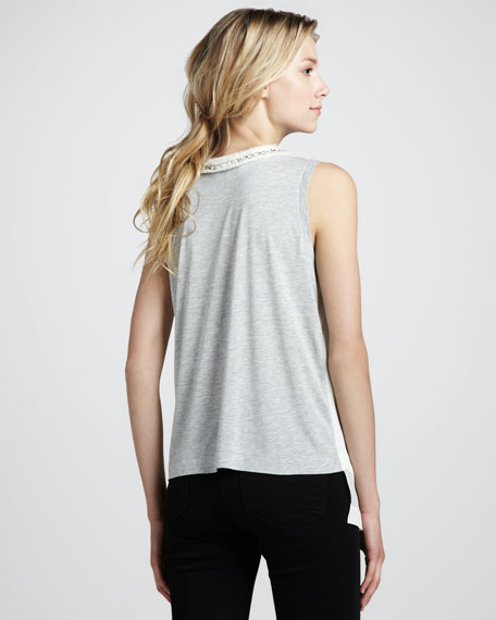 Beaded Contrast-Back Tank