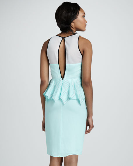 Take Me To Monaco Peplum Dress