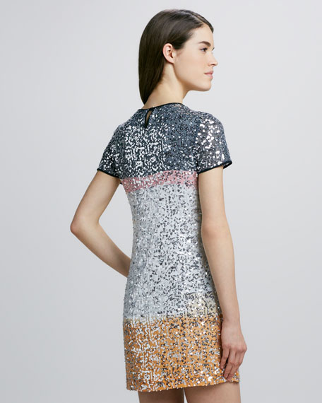 Barbie Sequin-Embellished Silk Dress