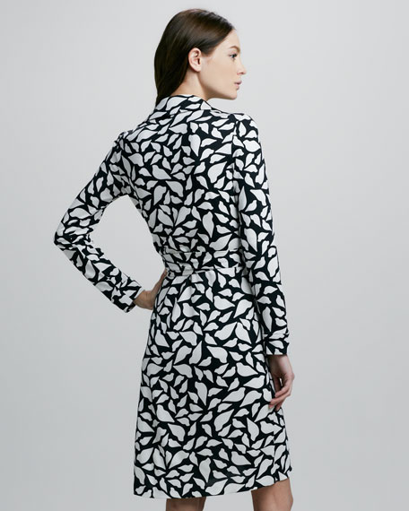 New Jeanne Two Lips-Print Wrap Dress
