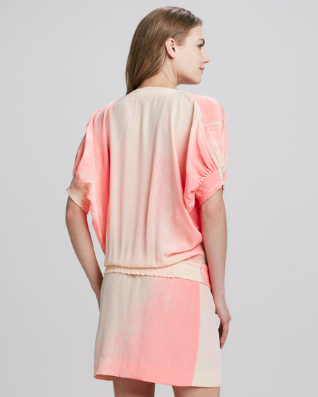 Edna Spray Paint Silk Dress