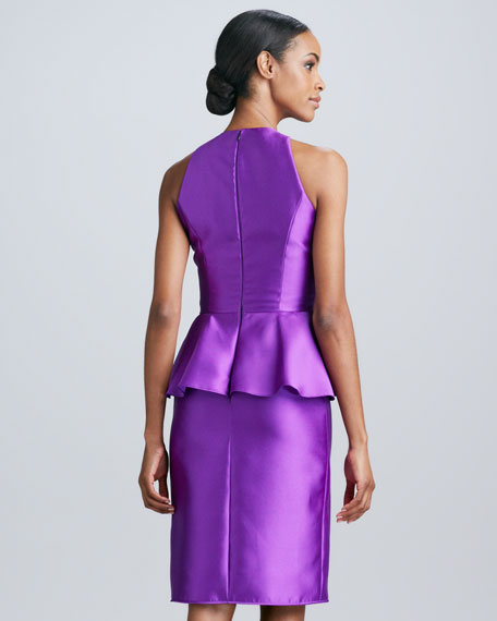 Sleeveless Peplum Cocktail Dress