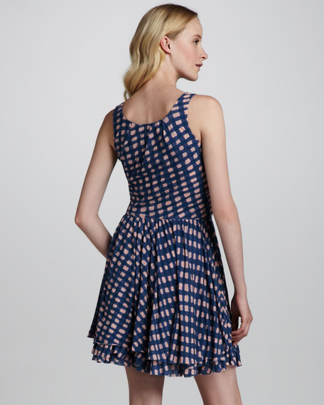 Molly Check-Print Jersey Dress