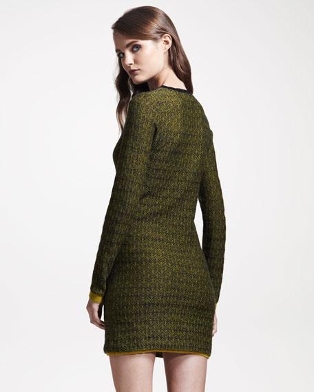Clea Jacquard Sweaterdress