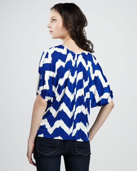 Printed 3/4-Sleeve Top