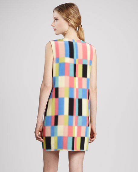 Printed V-Neck Shift Dress