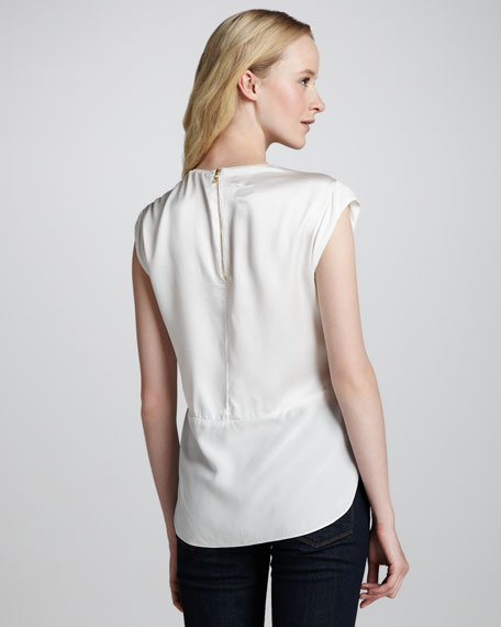 Sequined Back-Zip Shell
