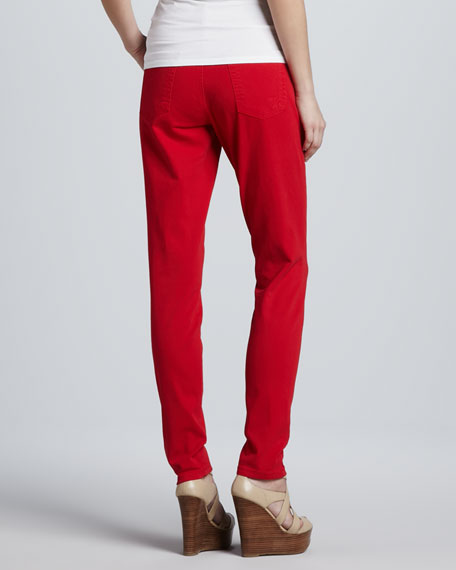 Bright Tone High-Rise Skinny Jeans