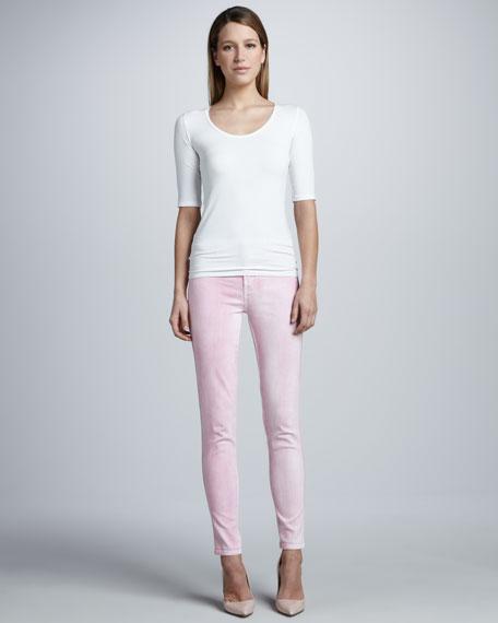 Marbled Skinny Jeans