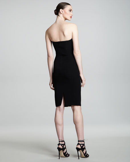 Strapless Colorblock-Inset Dress