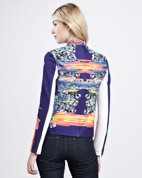 Valley Floral-Print Twill Jacket