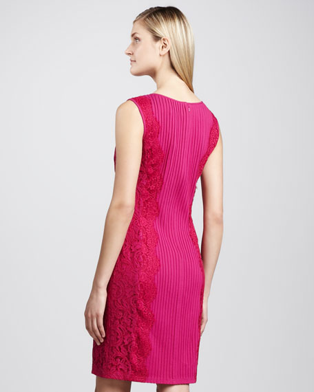 Sleeveless Paneled Cocktail Dress