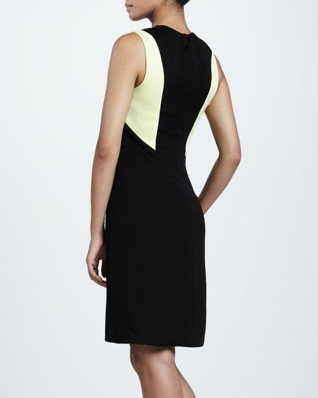 Colorblock Crinkle Dress