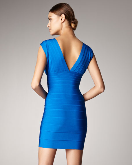 Front-Zip Bandage Dress