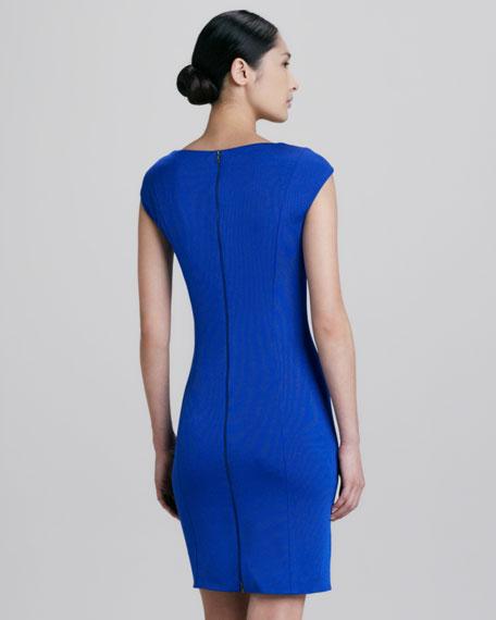 Cutout Cap-Sleeve Sheath Dress