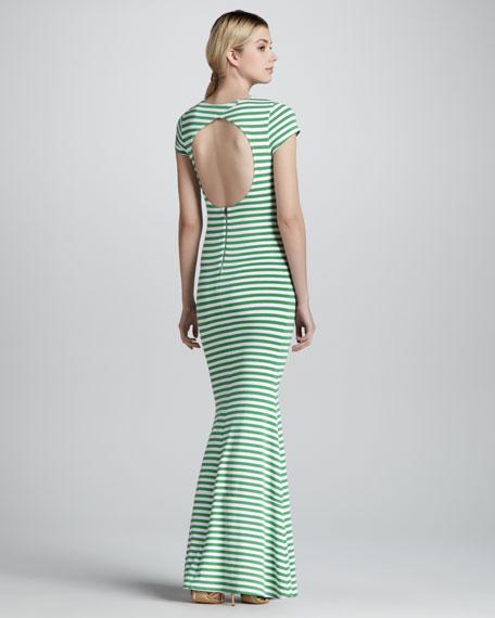 Orli Striped Open-Back Maxi Dress