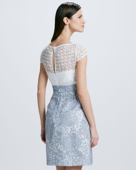 Lace Jacquard-Skirt Cocktail Dress