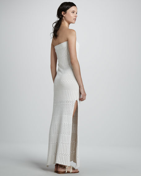 Lou Crochet Strapless Maxi Dress
