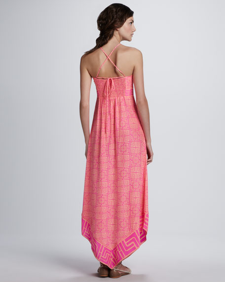Lara Printed Halter Maxi Dress