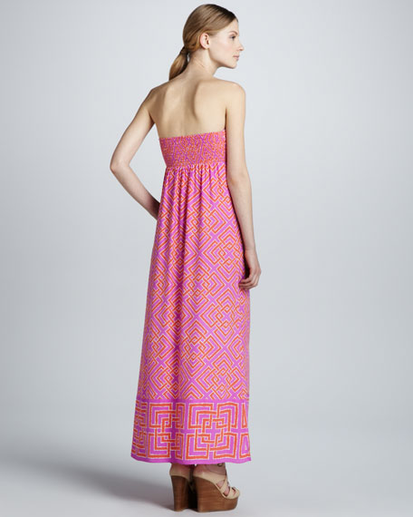 Tianna Geometric-Print Maxi Dress