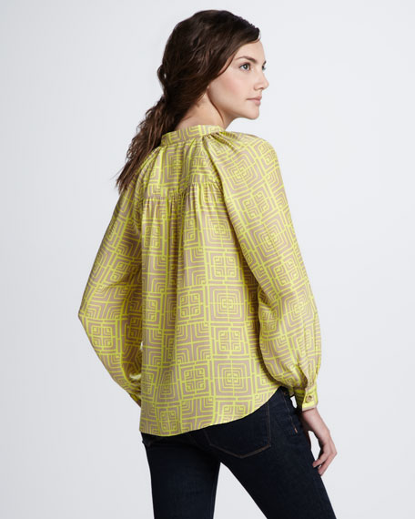 Margo Geometric-Print Top