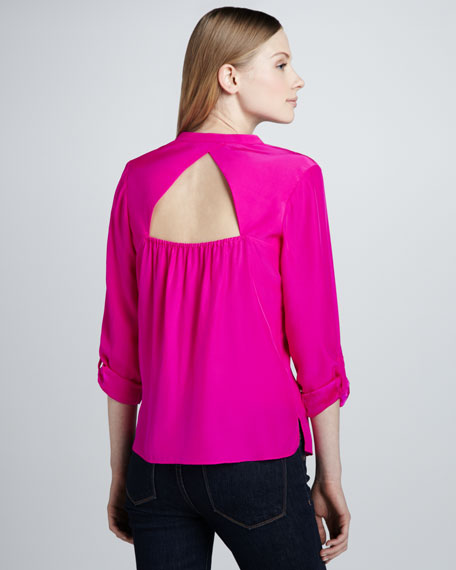 Ryder Cutout-Back Blouse