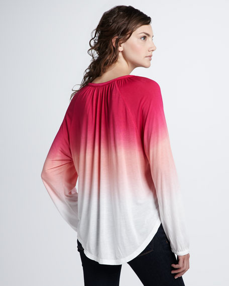 Sunset Ombre Tie Blouse