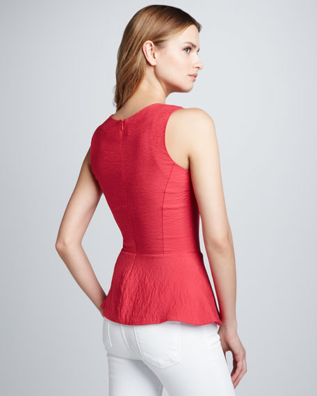 Walker Peplum Sleeveless Top