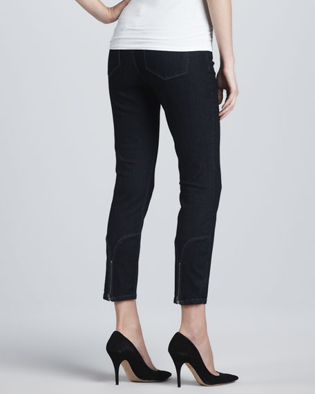 Jill Dark Enzyme Fitted Ankle Jeans