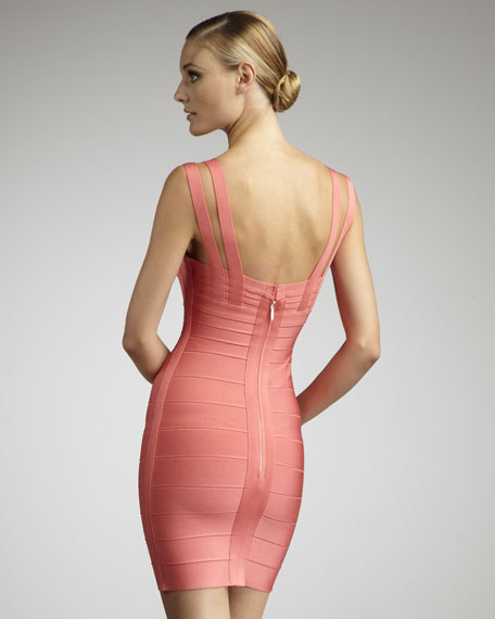 Crisscross-Strap Bandage Dress