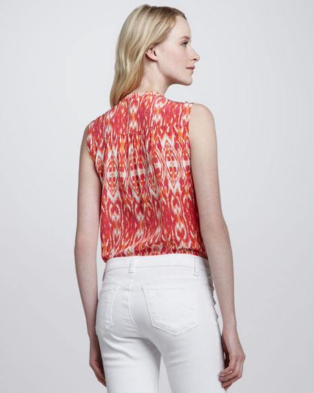 Finnegan Ikat-Print Top