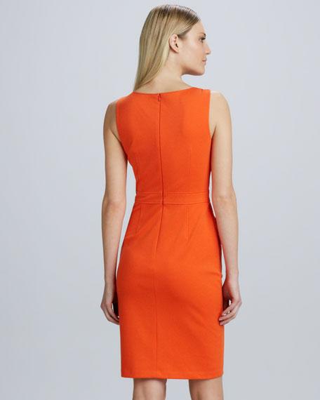 Lace-Paneled Sheath Dress