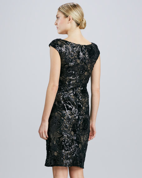 Beaded & Sequined Cocktail Dress