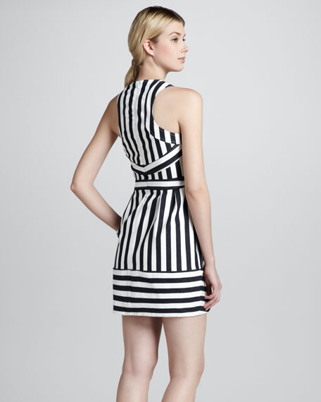 Waterfront Striped Sleeveless Dress
