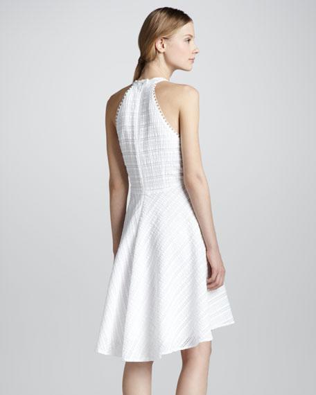 Atlantis Textured Hi-Lo Halter Dress