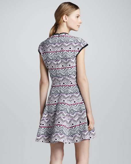 Cove Tino Printed Fit & Flare Dress