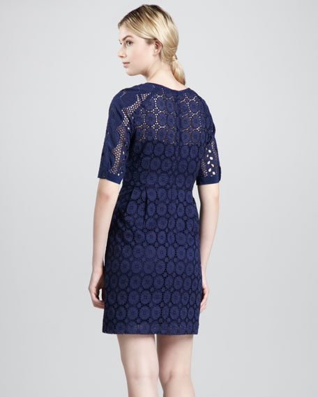 Sandy Beach Lace Dress, Navy