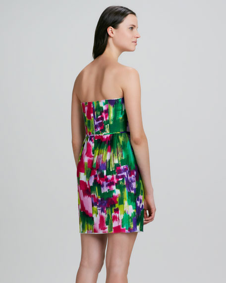 Julieanne Strapless Printed Dress
