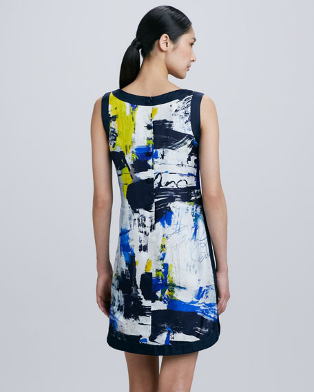 Printed Silk Shirttail Dress