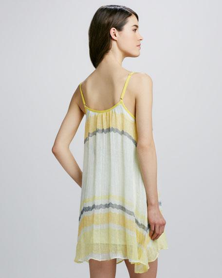 Sleeveless Babydoll Striped Dress