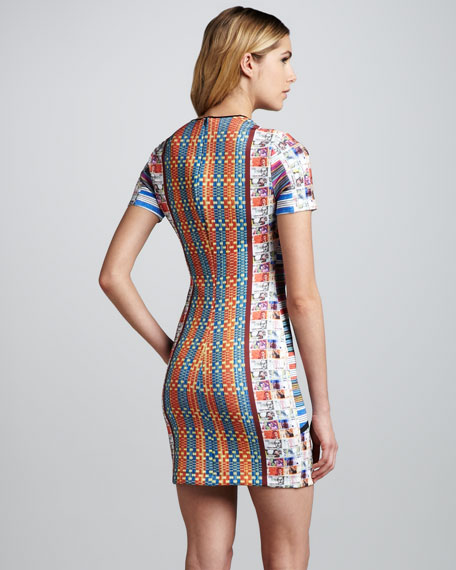 Woven Pesos Printed Dress