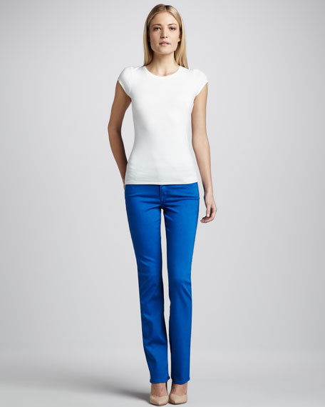 Faith Bright Straight-Leg Jeans
