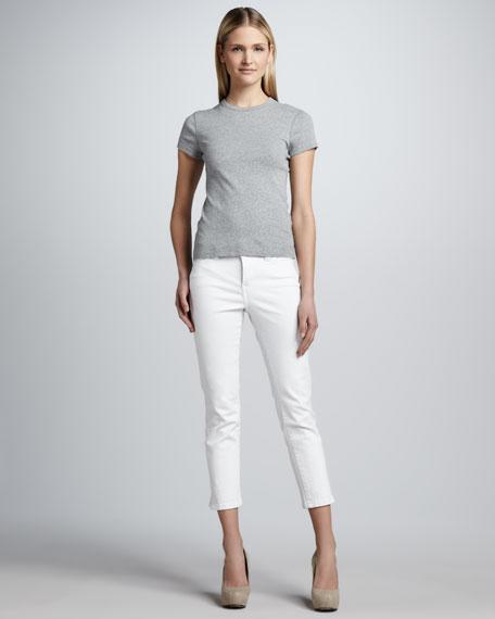 Bianca Slub Ankle Jeans