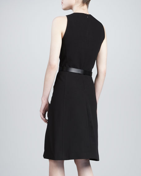 Zip-Front Sleeveless Dress