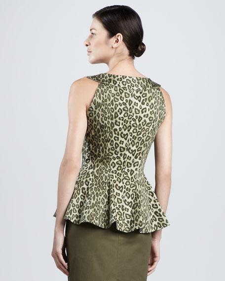 Odelya Leopard Peplum Blouse